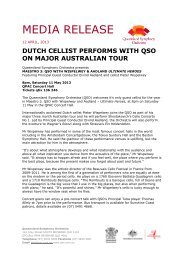 Dutch Cellist Performs with QSO on Major Australian Tour