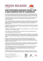 QSO Performs Baroque Music for a New Generation of Audiences