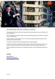 outbound sales consultants - Queensland Symphony Orchestra