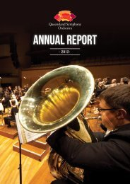 2012 Annual Report - Queensland Symphony Orchestra