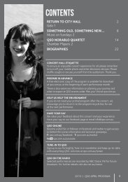 April 2013 - Queensland Symphony Orchestra