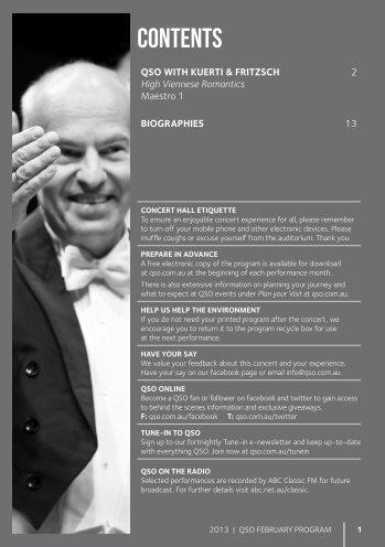 February 2013 - Queensland Symphony Orchestra