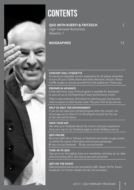 February 2013 - Queensland Symphony Orchestra