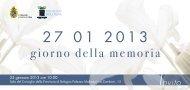 giorno della memoria - Comune di Bologna