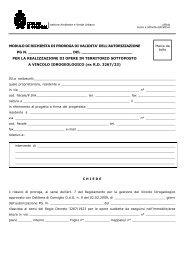 modulo di richiesta di proroga di validita' dell'autorizzazione pg n.