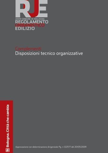 RUE_Disposizioni Tecnico organizzative.pdf - Comune di Bologna