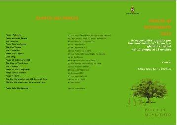 parchi in movimento 2013 elenco dei parchi - Comune di Bologna