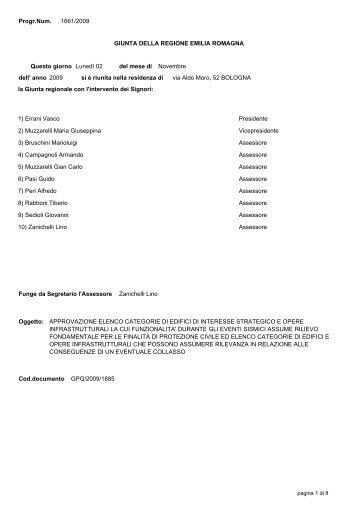 1) Errani Vasco Presidente 2) Muzzarelli Maria Giuseppina ...