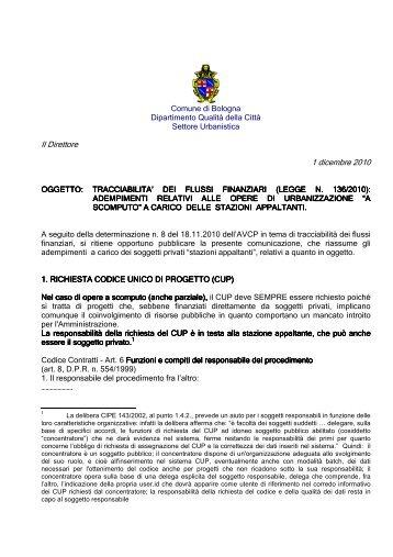 Il Direttore 1 dicembre 2010 - Comune di Bologna