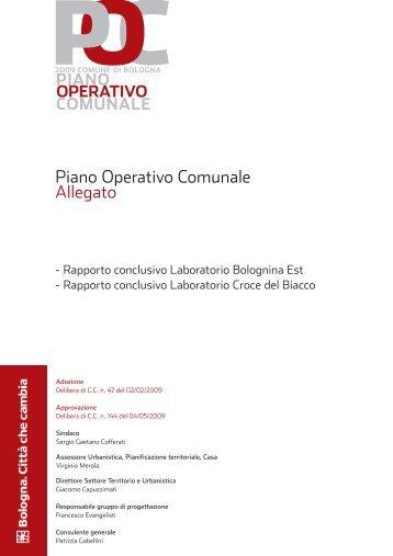 Piano Operativo Comunale Allegato - Comune di Bologna
