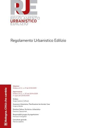 RUE Regolamento urbanistico edilizio - Comune di Bologna