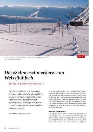 Die «Schneeschmecker» vom Weissfluhjoch - Caroline Fink