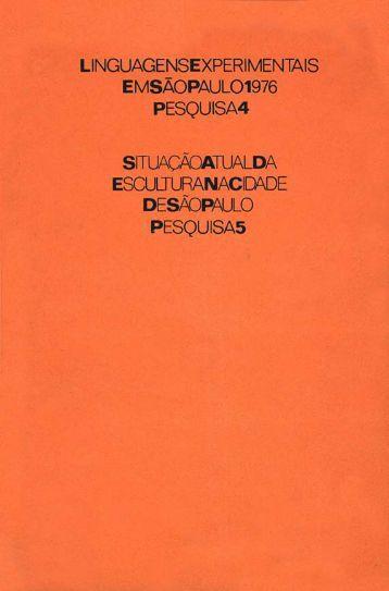 linguagens experimentais em sao paulo/1976 - Centro Cultural São ...