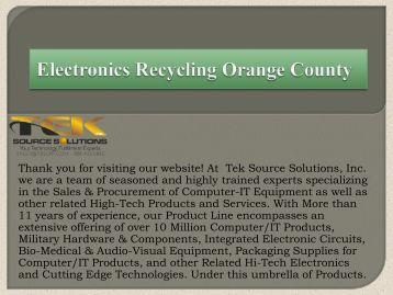 Electronics Recycling Orange County