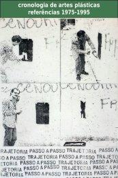 cronologia de artes plásticas referências 1975-1995