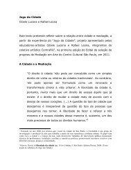 Jogo da Cidade Cibele Lucena e Rafael Leona Este texto pretende ...