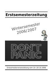 Erstsemesterzeitung - bei der Fachschaft WiWi Mainz!
