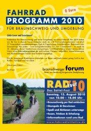 FAHRRAD PROGRAMM 2010