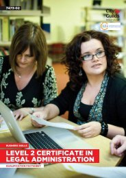LEVEL 2 CERTIFICATE IN LEGAL ADMINISTRATION - City & Guilds