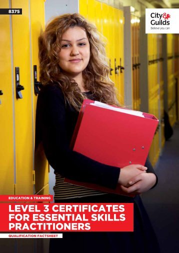 level 3 certificates for essential skills practitioners - City & Guilds