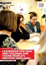 Leadership Health/Social Care & Children and ... - City & Guilds