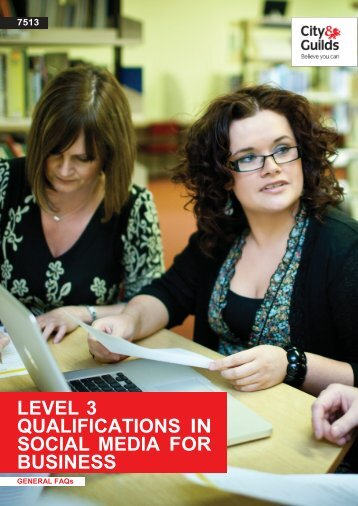 7513 level 3 qualifications in social media for business - City & Guilds
