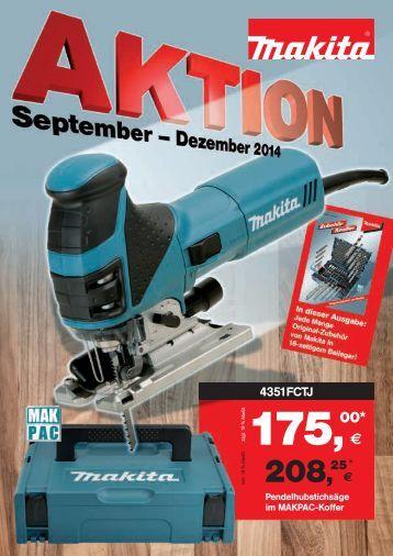 Makita Aktionsprospekt September-Dezember 2014
