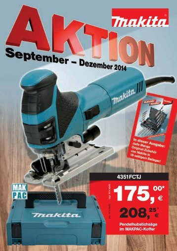 Makita Aktionsprospekt September-Dezember 2014