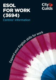 ESOL fOr WOrk (3694) - City & Guilds