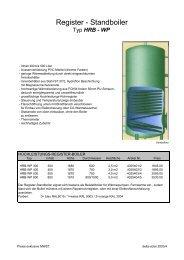 HRB-WP 300 - 800 Liter - Delta Solar GmbH