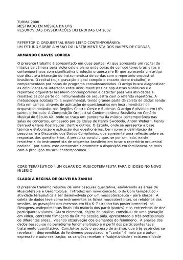 Resumos de todas as dissertações da turma de 2000 - EMAC ...