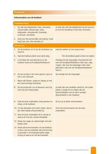 Protocol: Schoonmaken van de koelkast - Factor-E
