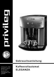 Gebrauchsanleitung Kaffeevollautomat ELEGANZA - Baur