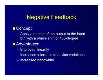 Negative Feedback (pdf file)