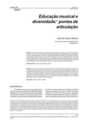 Educação musical e diversidade - ABEM