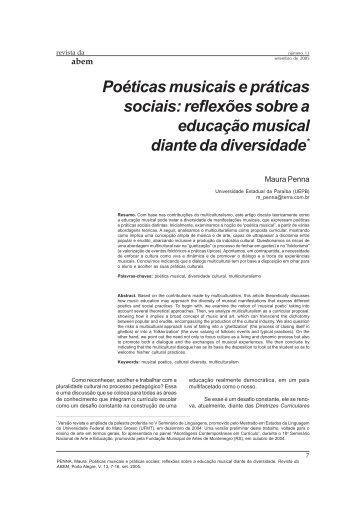 Poéticas musicais e práticas sociais - ABEM