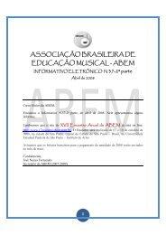 Informativo nº 37 - abril (2ª parte) - ABEM