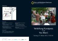 Verleihung Kunstpreis Vox Blenii - Archivio Roberto Donetta