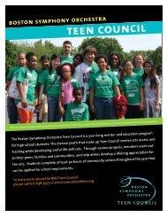 teen council - Boston Symphony Orchestra