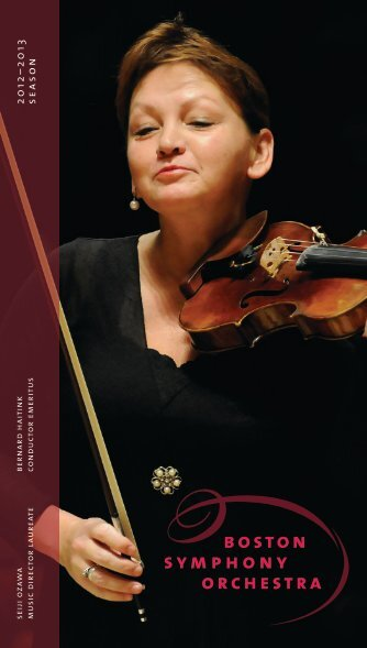 2012–2013 season - Boston Symphony Orchestra