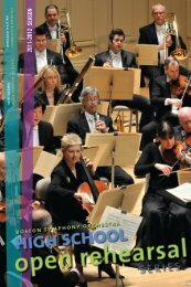 2011-2012 season boston symphony orchestra