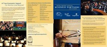 BUSINESS PARTNERS - Boston Symphony Orchestra