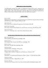 Bibliografia per audio-video digitale Una bibliografia essenziale che ...