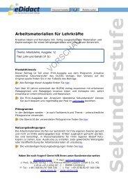 Arbeitsmaterialien Sekundarstufe - Lohn und Gehalt - bei eDidact