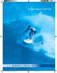 ANNUAL REPORT 2007-08 - JL Morison