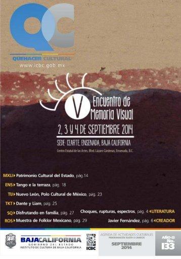 Quehacer Cultural del mes de Septiembre 2014