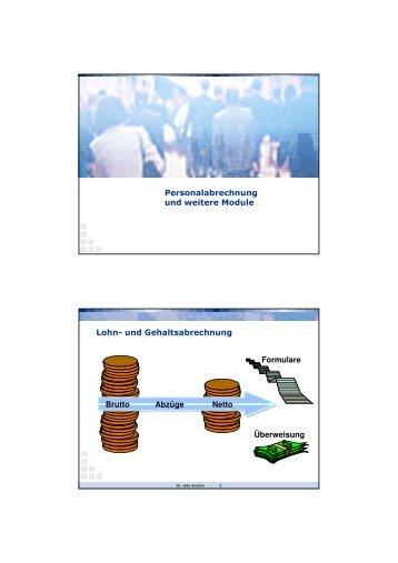 Personalabrechnung und weitere Module Lohn- und ...