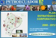Petroecuador. Plan estratégico a 2012 - OilProduction.net