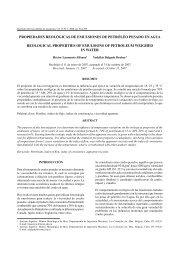 propiedades reológicas de emulsiones de petróleo ... - SciELO