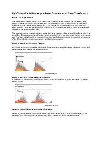 High Voltage Partial Discharge in Power Generators - FAST Comtec